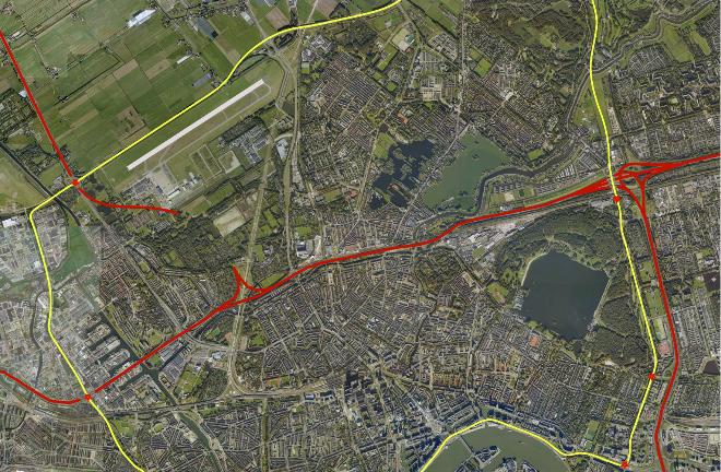 rondje Rotterdam alternatief A13-A16